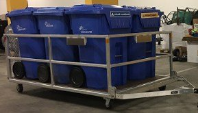 Xerowaste | tote trailer or bin trailer for use with walk-along tug