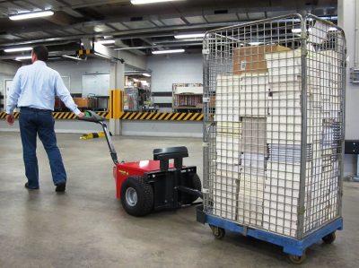 Xerowaste.ca | Carro móvil remolcador V-Move XL | Transportador de contenedores | Remolcador eléctrico a batería