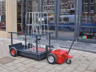 Xerowaste V-Move L electric tug | Cart mover | Industrial electric pedestrian tug | Dumpster mover