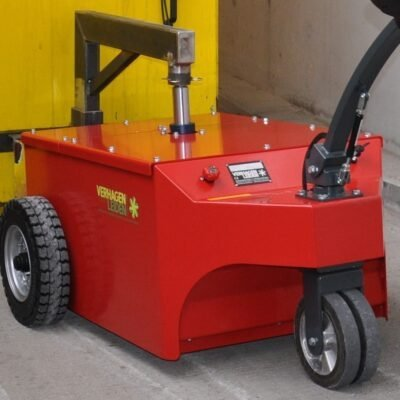 Xerowaste V-Move XXL electric tug with lifter moving compactor | Industrial electric pedestrian tug | Dumpster mover