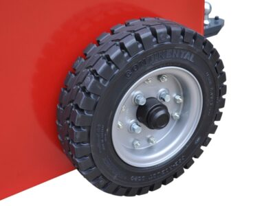 Xerowaste V-Move XXL walk-along electric tug drive wheels | Industrial tug