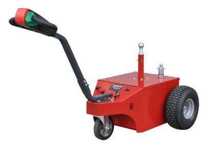 Xerowaste.ca | Remolcador eléctrico V-Move XL con enganche de montaje central y trasero | Transportador de remolques | Remolcador de peatones eléctrico industrial
