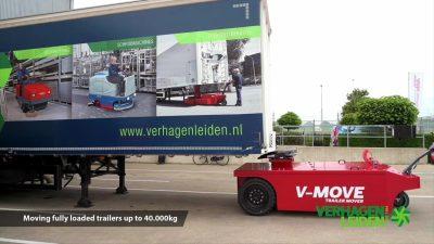 Semi-remorque semi-remorque V-move 40t approchant. Aussi un remorqueur de tracteur de terminal alimenté par batterie | Xerowaste.ca