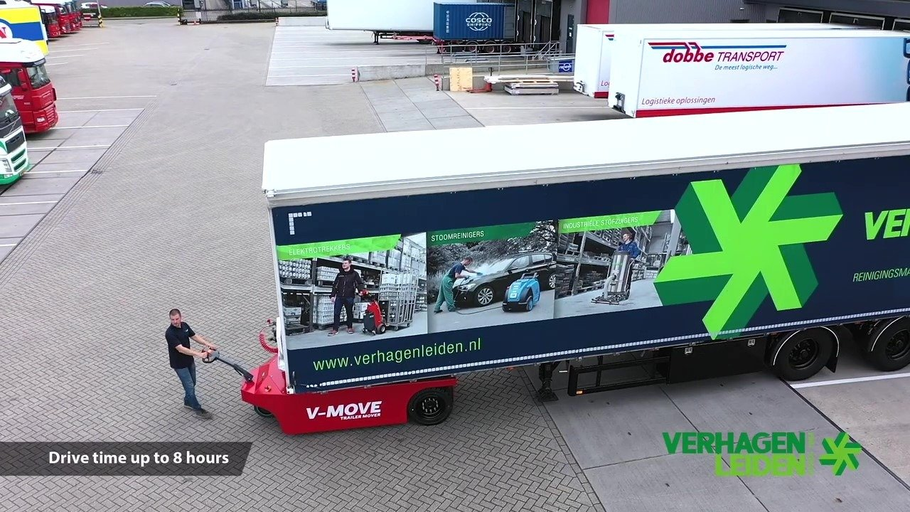 V-move 40t semi trailermover moving semi trailer. Also a battery-powered terminal tractor tug | Xerowaste.ca