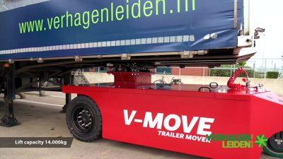 Semi-remorque V-move 40t sous semi-remorque. Aussi un remorqueur de tracteur de terminal alimenté par batterie | Xerowaste.ca