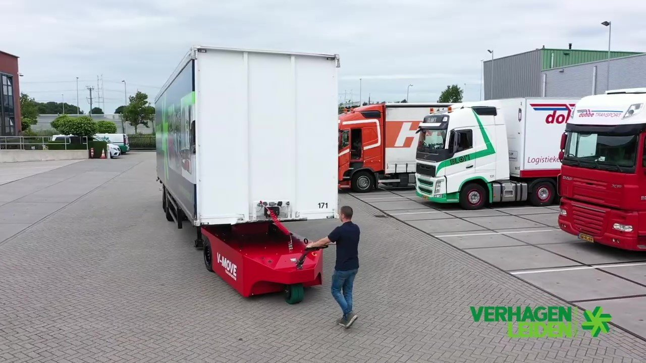 Semirremolque móvil v-move 40t semi trailermover. También un remolcador de tractor terminal a batería | Xerowaste.ca
