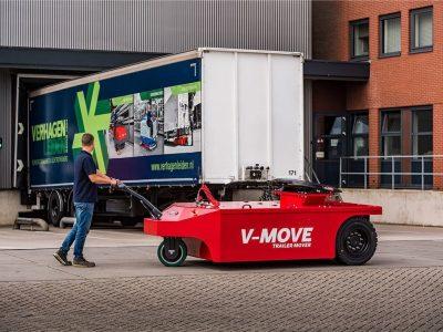 Xerowaste.ca | Remorqueur semi-remorque V-move 40t - également connu sous le nom de remorqueur de tracteur