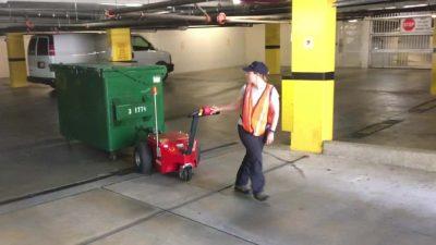 v-move XL+ dumpster mover tug | Xerowaste.ca