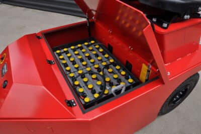 Xerowaste V-Move 4XL battery compartment | Industrial tug | Airplane push back tug | Rail car mover