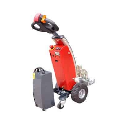 Xerowaste.ca | V-Move S industrial cart tugger | cart pulling tug | cart mover | industrial tug | electric cart tugger mover