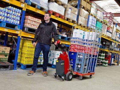 Xerowaste.ca | Remolcador de carro eléctrico V-Move S carro de almacén móvil | Mover carro | Remolcador de carro | extractor industrial