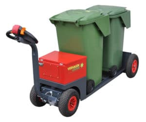V-Move EDV tug moving waste totes