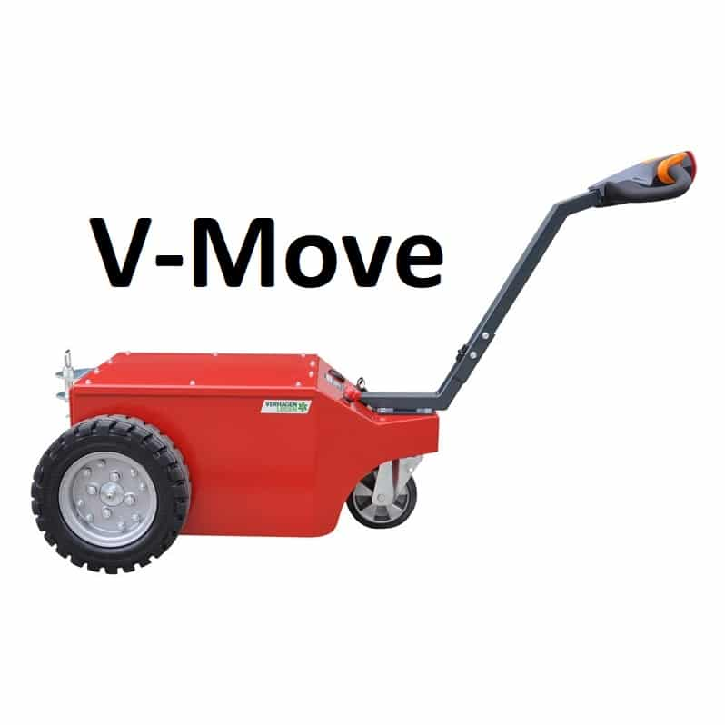 Xerowaste.ca V-Move tugs | Dumpster Mover | Waste bin tug | Industrial electric pedestrian tug