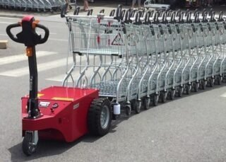 V-Move XL+ cart pusher / luggage cart retriever for airports | Xerowaste.ca