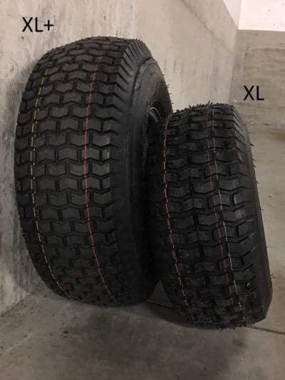 Xerowaste | Comparación del tamaño de los neumáticos V-Move XL y XL + para tres estaciones
