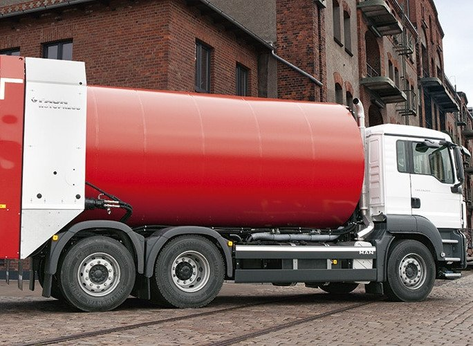 Camión Faun Rotopress. Bueno para el reciclaje de textiles si se elimina el augur trasero.