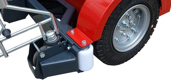 V-Move XL / XL + remolcador eléctrico con ruedas giratorias dobles | Xerowaste