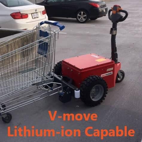 Xerowaste | V-move Lithium-ion capable shopping cart pusher